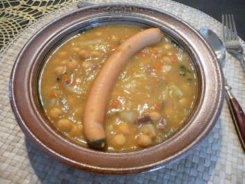 Suppen & Eintöpfe : Kichererbseneintopf mit Wiener Würstchen - Rezept
