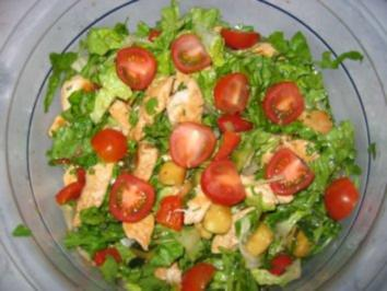 Grüner Salat mit Hähnchenbrust ala Elfi - Rezept