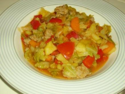 Spitzkohl-Gemüse-Pfanne - Rezept