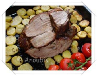 Hauptgericht deftig - Lammkeule mit Tomaten - Rezept