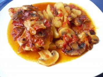Schnitzel in Paprikasoße - Rezept