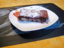 Schoko Birnenkuchen vom Blech - Rezept