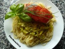 Spaghetti an Spitzkohl-Curryrahm mit Ingwer-Lachs - Rezept