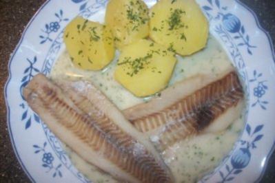 Alaska Seelachsfilet in Dillsoße mit Salzkartoffeln ♥ ♥ ♥ - Rezept