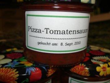 Sauce:  PIZZA - TOMATENSAUCE - Rezept
