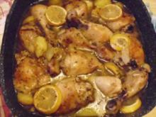 Zitronenhuhn mit Kartoffeln und Schalotten - Rezept