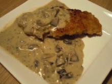Champignon-Zwiebel-Sahne-Soße - Rezept