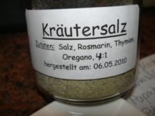Diverses:    KRÄUTER - SALZ - MISCHUNG  - Rezept