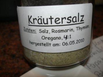 Rezept: Diverses:    KRÄUTER - SALZ - MISCHUNG