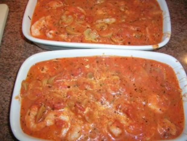 Garnelentöpfchen - als Hauptgericht oder in kleineren Portionen als leckere Vorspeise - - Rezept - Bild Nr. 7