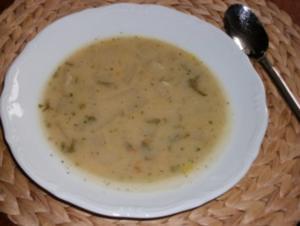 Suppen- gebrannte Griessuppe mit Kohlrabi - Rezept
