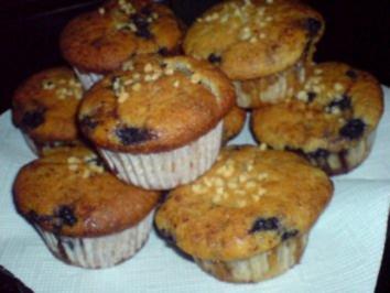 Nuss-Muffin mit Blaubeeren - Rezept