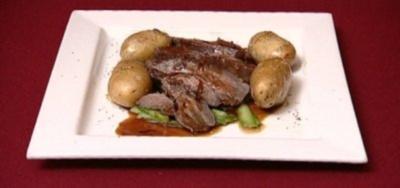 Sauerbraten mit Spargel und Rosmarinkartoffeln (Peter Großmann) - Rezept