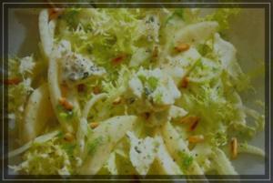 Friseesalat mit Fenchel und Gorgonzola - Rezept