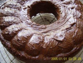Schokoladenkranz mit Nüssen - Rezept