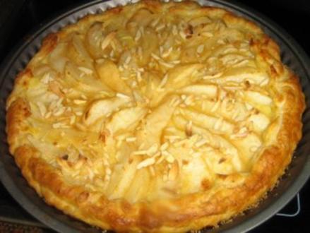 Birnen-Pudding-Tarte - Rezept