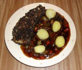 Pumpernickel - Schnitzel in Malzbiersauce - Rezept
