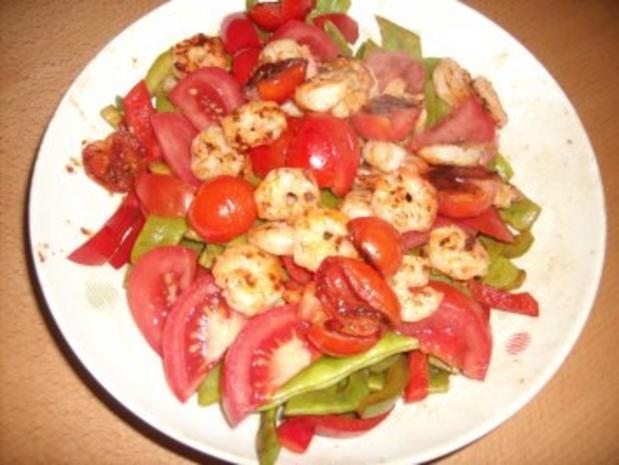 Garnelen-Salat, lauwarm - Rezept - Bild Nr. 4