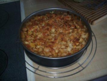 Rezept: Apfel - Kuchen mit Marzipan