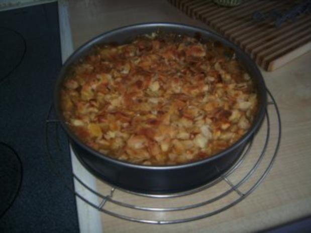 Apfel - Kuchen mit Marzipan - Rezept