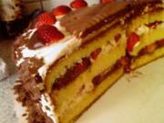 Erdbeer- Mousse au Chocolat- Torte - Rezept