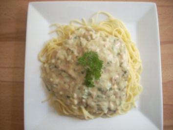 Spaghetti mit Weißwein - Thunfisch - Sauce - Rezept