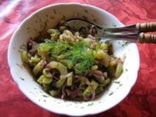 lauwarmer Schmorgurkensalat - Rezept