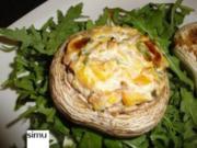 Gefüllte Champignons fruchtig-käsig - Rezept