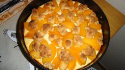 Pfirsisch - Quarkkuchen - Rezept