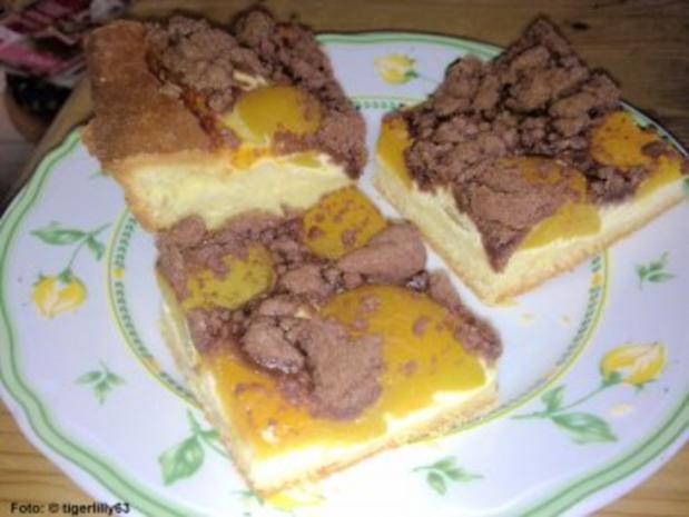 Schoko-Streuselkuchen mit Aprikosen - Rezept - Bild Nr. 3