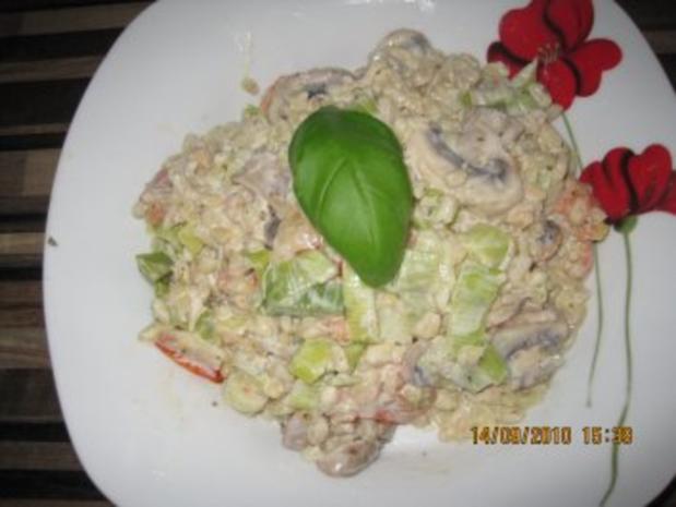 Ebly - Gemüse - Pfanne mit Frischkäse - Rezept