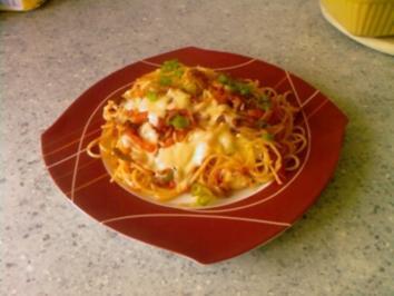 Bunte Spaghetti - Rezept