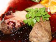 Geflügel: Entenbrust mit Kartoffel - Kürbis - Gratin - Rezept