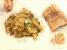 Geräucherte Forelle mit Meerrettich und japanischem Gurkensalat (Magdalena Brezska) - Rezept