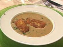 Crèmesuppe von Hülsenfrüchten mit gebackenem Kabeljau (Achim Mentzel) - Rezept