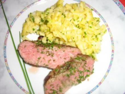 Rostbraten an Käsespätzle - Rezept