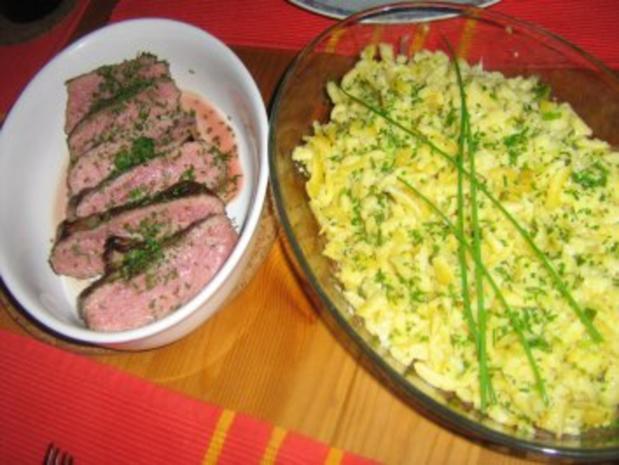 Rostbraten an Käsespätzle - Rezept - Bild Nr. 6
