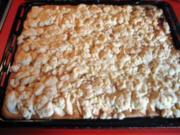 Apfel und Birnenkuchen mit Streusel vom Blech - Rezept