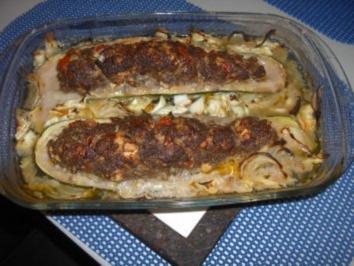 Zucchini gefüllt - Rezept