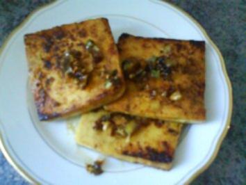 Tofu in würziger Marinade gebraten - Rezept