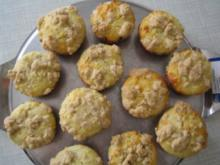 Mohn - Vanille - Muffins mit Zimtstreußeln - Rezept