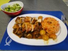 Hühnerbrüstchen in Curry-Mango-Sauce                  (Foto) - Rezept