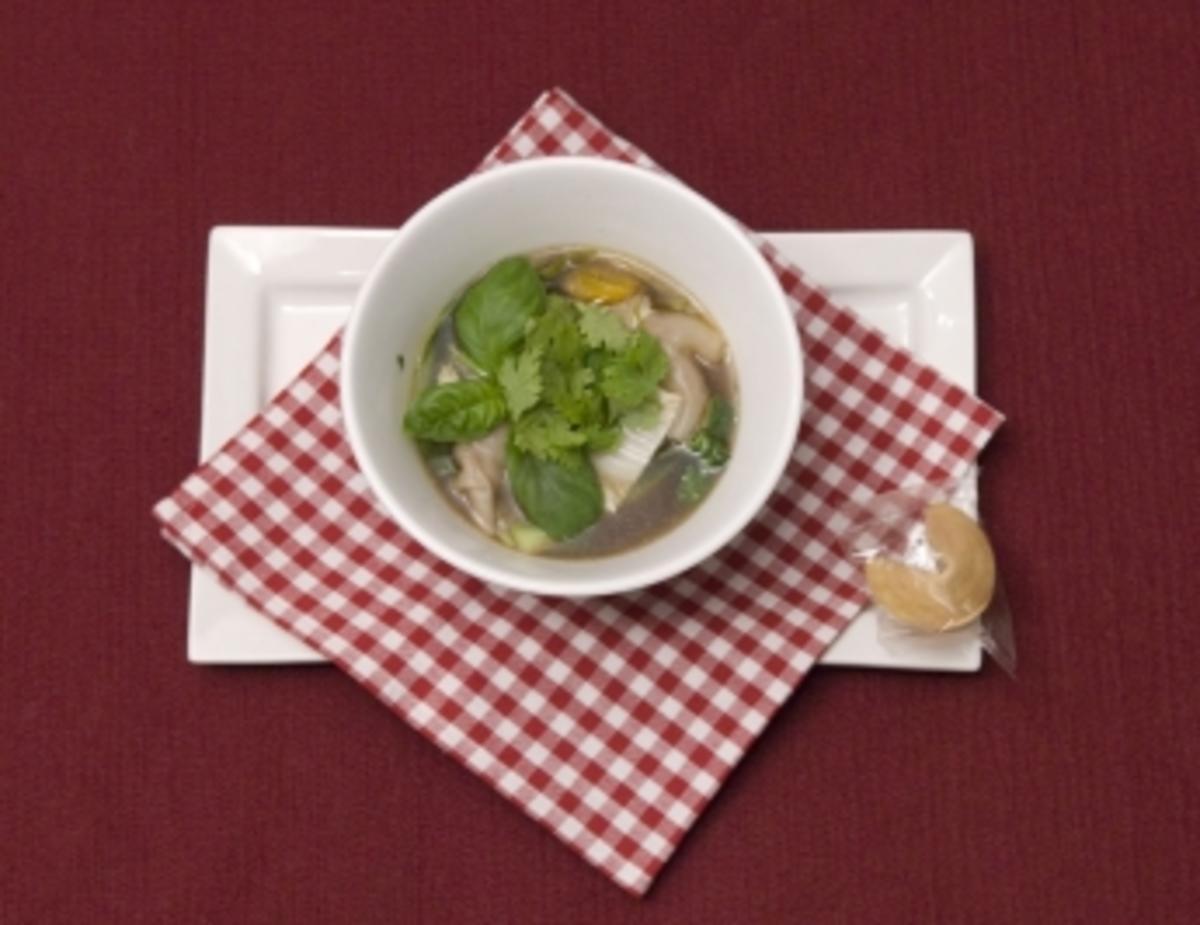 Dänische Wan Tan Suppe (Kate Hall) - Rezept Von Einsendungen Das perfekte Promi Dinner