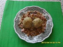 Pfifferlinge in Sahnesoße mit Semmelknödeln - Rezept