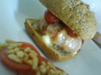 Mozarella Burger - Rezept