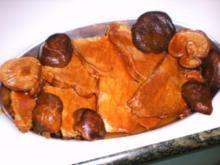 Fleisch: Rindfleischstreifen in Teriyakisauce mit Shiitakepilzen - Rezept