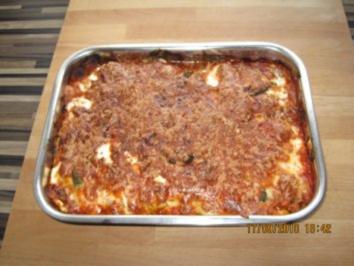 Lasagne mit Zuchinizwergen und frischen Tomaten - Rezept