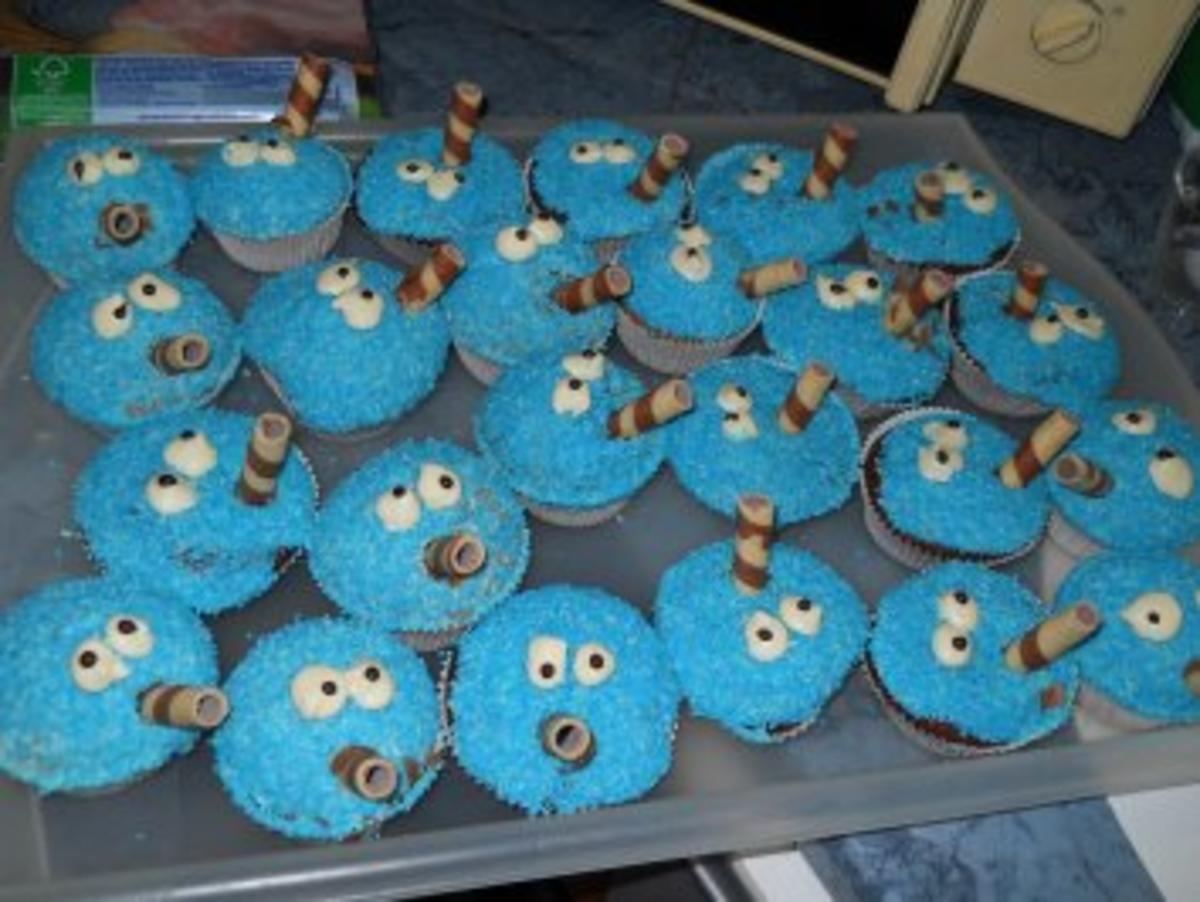 Kürmmelmonster Maffin oder Kuchen - Rezept By Kookies