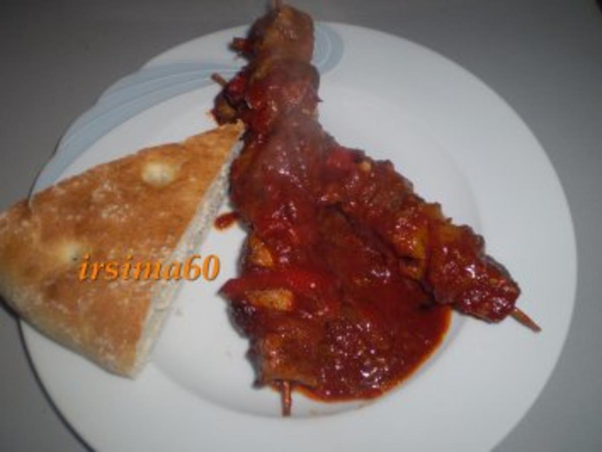 Bunte Fleischspieße Rezept Eingereicht von irsima60