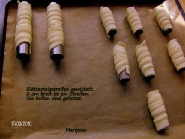 Schaumrollen mit Amaretto-Sahne-Füllung - Rezept - Bild Nr. 7